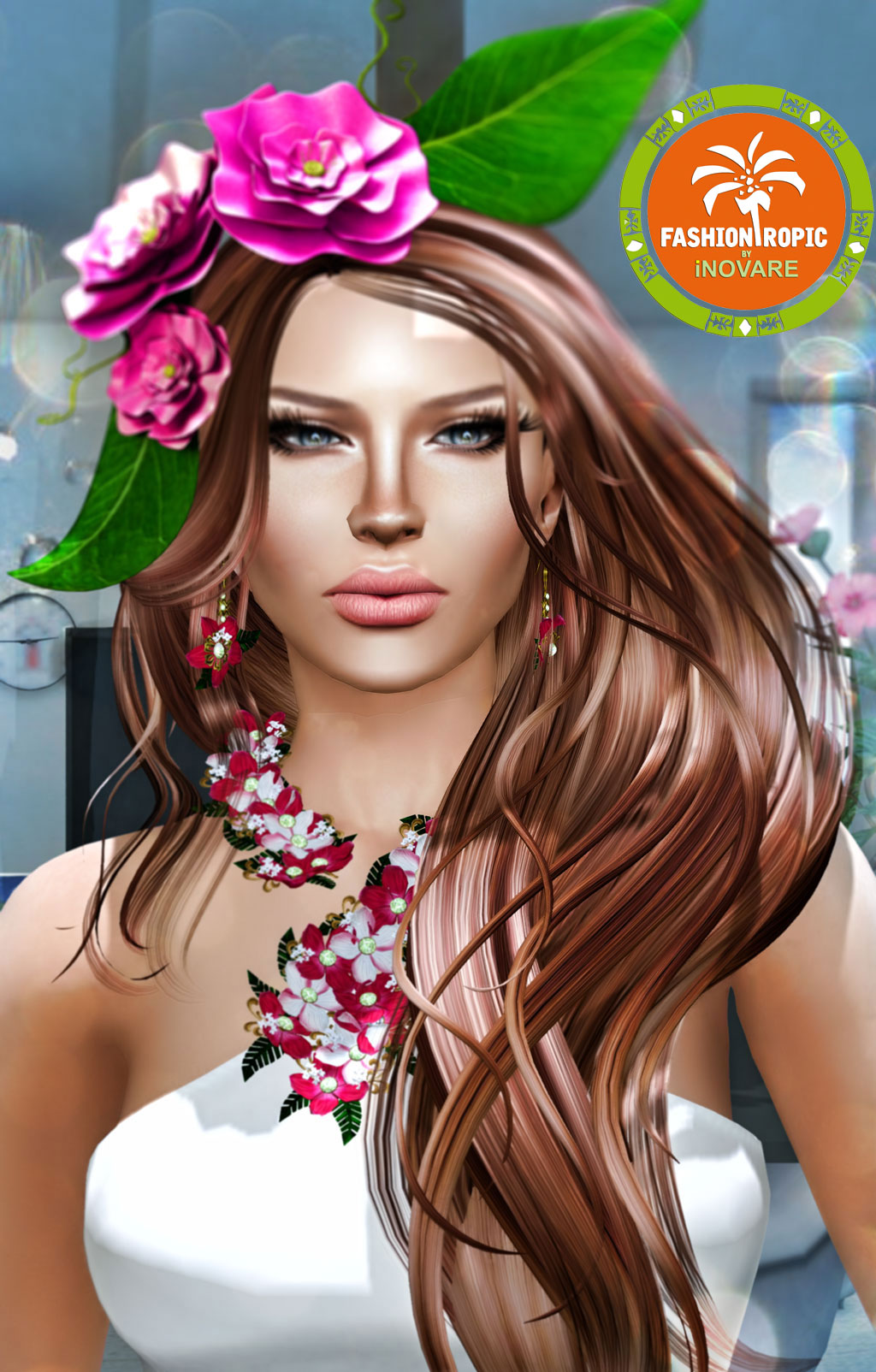 With flowers in her hair purrys blog liliah hair fair starts july 11th skin wow skins v2 fatma bronze black dot event makeup lips deesses boutique light skins lipstick izmirmasajfo